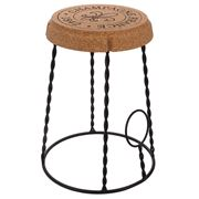 Peter's - Champagne Cork & Metal Stool 30x47cm