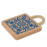 Peter's - Portuguese Tile Cork Trivet with Rope Handle 15cm