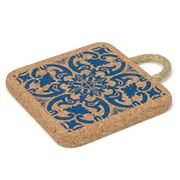 Peter's - Portuguese Tile Cork Trivet with Rope Handle  20cm