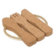 Peter's - Cutlery Set Cork Trivet with Rope Handles