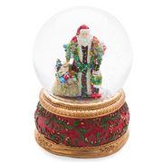 Roman Christmas - Santa with Toys Musical Glitterdome