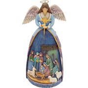 Heartwood Creek - Angel with Nativity Figurine