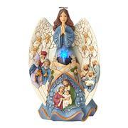 Heartwood Creek - Angel With Nativity Scene Musical Figurine