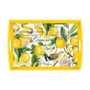 Michel Design - Lemon Basil Wooden Decoupage Large Tray