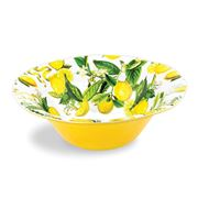 Michel Design - Large Melamine Lemon Basil Salad Bowl