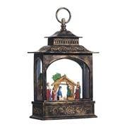 Raz - Modern Metallics Nativity Lighted Water Lantern