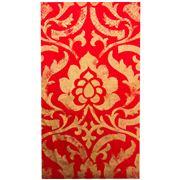 Caspari - Baroque Guest Napkin Towels Red 15pce