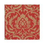 Caspari - Baroque Lunch Napkins Red 20pce