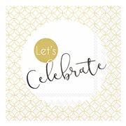 IHR - Let's Celebrate Cocktail Napkins Gold 20pce
