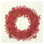 IHR - Berry Wreath Lunch Napkins Cream 20pce