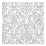 IHR - Palais Lunch Napkins White/Silver 20pce