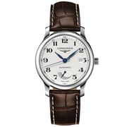 Longines - Master Collection Silver Dial Brown Strap Watch