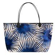Wouf - Blue Palms Velvet Tote Bag