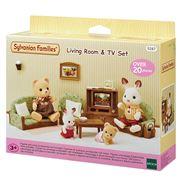 Sylvanian Families - Living Room & TV Set