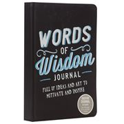 Book - Words Of Wisdom Journal Black
