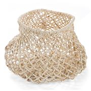 Papaya - Cicely Wide Woven Basket Small