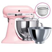 KitchenAid - KSM160 Pink Mixer w/Ice Cream Bowl