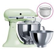 KitchenAid - KSM160 Pistachio Mixer w/Ice Cream Bowl