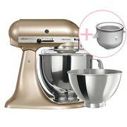 KitchenAid - Artisan KSM160 Champagne Mixer w/Ice Cream Bowl