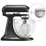 KitchenAid - Platinum KSM170 Black S. Mixer w/Ice Cream Bowl