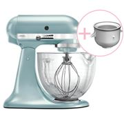 KitchenAid - Platinum KSM170 Az. Blue Mixer w/Ice Cream Bowl