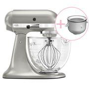 KitchenAid - Platinum KSM170 S. Pearl Mixer w/Ice Cream Bowl