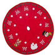 Peter's - Christmas Tree Skirt Red