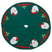 Adrienne & Misses Bonney - Santa Christmas Tree Skirt