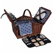 Satara - Torquay Wicker Picnic Basket Set for Four