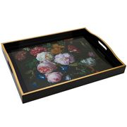Whitelaw & Newton - Flowers Black Large Tray