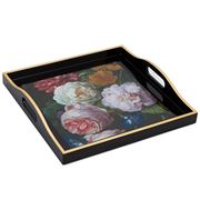 Whitelaw & Newton - Flowers Black Small Tray