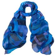 DLUX - Jaipur Silk Georgette Scarf Blue