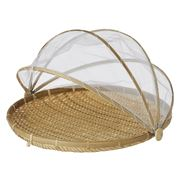 Davis & Waddell - Collapsible Food Cover w/Bamboo Tray 42cm