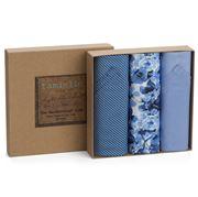 Tamielle - Men's Dark Floral Handkerchief Set 3pce