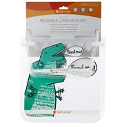 Full Circle - Reusable Dinosaur Sandwich Bag Set 2pce