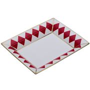 Halcyon Days - Parterre Trinket Tray Red