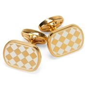 Halcyon Days - Houdon Cream & Gold Cufflinks