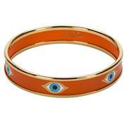 Halcyon Days - Evil Eye Orange & Gold Medium Bangle