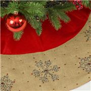Infingo - All I Want For Christmas Tree Skirt Red