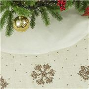 Infingo - All I Want For Christmas Tree Skirt Ivory