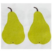 Marimekko - Pears Cocktail Napkins Cream & Green 20pce