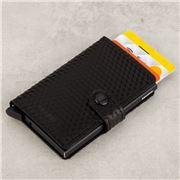 Secrid - Cubic Leather Black/Black Mini Wallet