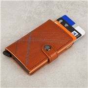 Secrid - Linea Stitch Leather Caramello Mini Wallet