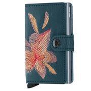 Secrid - Magnolia Stitch Leather Petrolio Mini Wallet