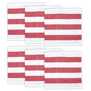 Rans - Alfresco Striped Napkin Set Red 6pce
