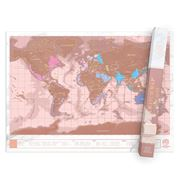 Luckies - Scratch Map Rose Gold