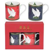 Halcyon Days - Dove of Peace Blue & Red Mug Set 2pce