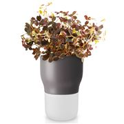 Eva Solo - Glass & Ceramic Self Watering Herb Pot Grey 9cm