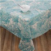 L'Ensoleillade -  Caledonie Coated Tablecloth Turq 250x150cm