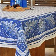 L'Ensoleillade - Mirabeau Tablecloth Ecru/Bleu  200x155cm